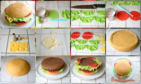 how to make a hamburger cake burger cake pinterest cakes search and how to make