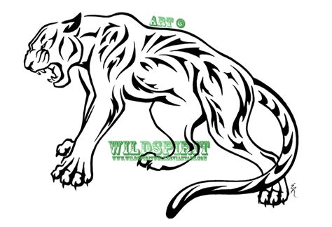 panther tribal tattoo tribal nature panther by wildspiritwolf on deviantart