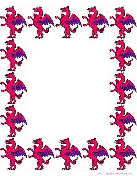 printable dragon stationery printable stationery free stationery free printable