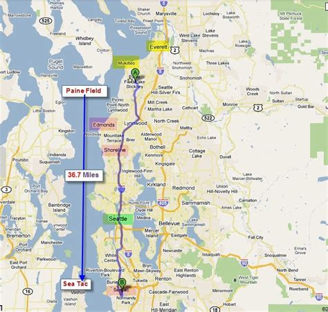 Map Of Boeing Locations Map by Map Of Puget Sound And The Location Of The Mukilteo Future