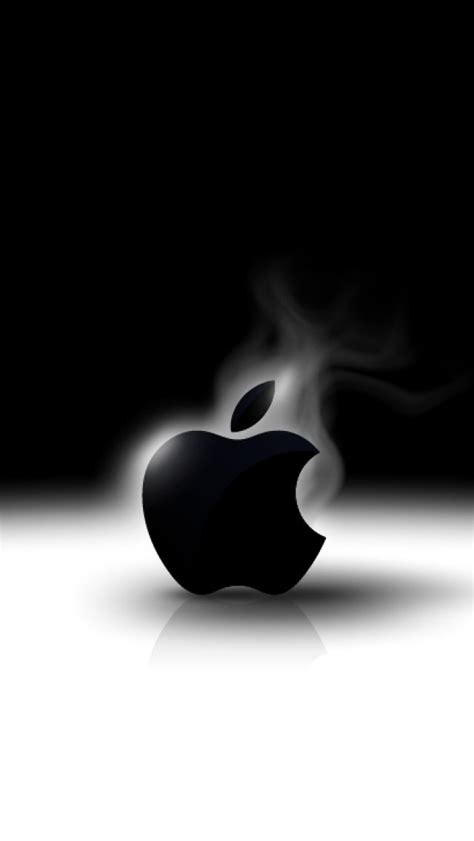 apple logo black  white iphone hd wallpapers