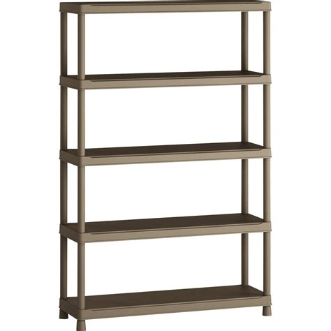 etagere 50 x 100 etag 232 re r 233 sine spaceo 5 tablettes terre l120xh181xp40 cm