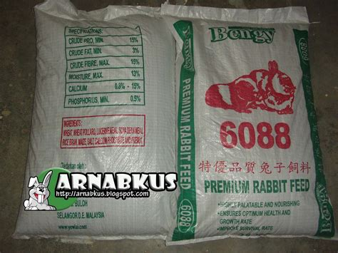 Harga Wheat Pollard arnabkus shop rabbit feed bengy 6088 25kg