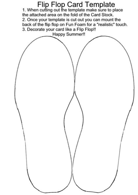 flip flop shaped card template crafting birthdays and summer on