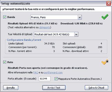 migliore porta per utorrent configurare utorrent