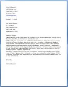 Cover Letter For Analyst cover letter for business analyst resume downloads