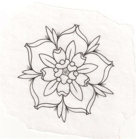 Outline Sketches Of Flowers by Flower Outline Drawing Tattoos Flower Sketches And Outline