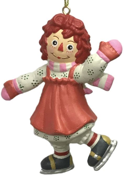 raggedy ann skating christmas ornament  kurt adler