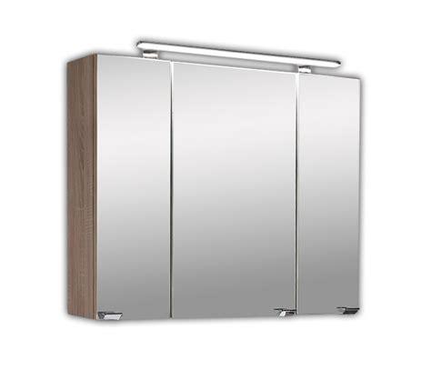 spiegelschrank eiche spiegelschrank mit led beleuchtung sonoma eiche bad