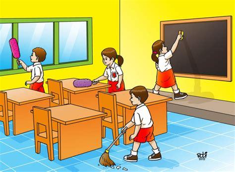 tata ruang kelas dalam belajar fany feronica kebersihan lingkungan