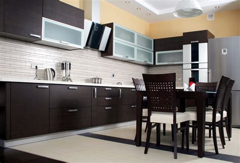 Modern Black Kitchen Cabinets Black Modern Kitchen Cabinet Design 2016