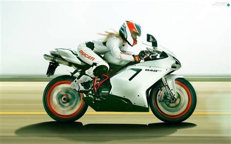 ducati 848 bike girl hd wallpaper wide screen wallpaper girl ducati 848 road motor bike motorbikes wallpapers