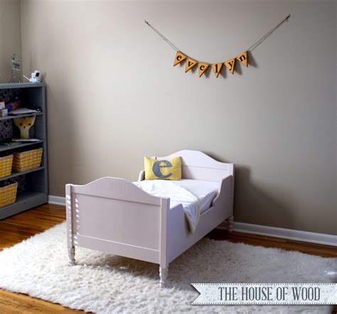 Toddler Bed by White Tatum Toddler Bed Diy Projects