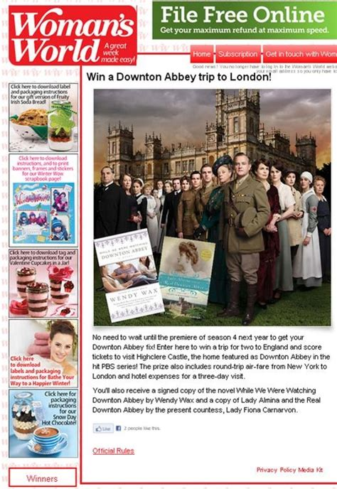 Womansworldmag Com Sweepstakes - 25 best ideas about downton abbey sweepstakes on pinterest downton abbey book
