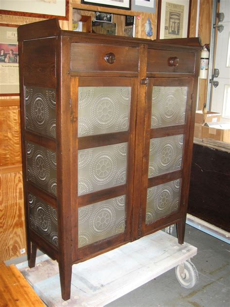 handmade pie safe restoration  custom woodworking