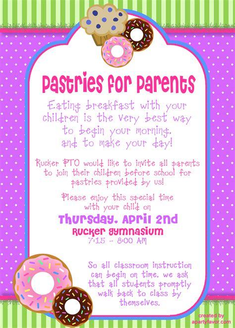 parent flyer templates event flyer for pastries for parents principal