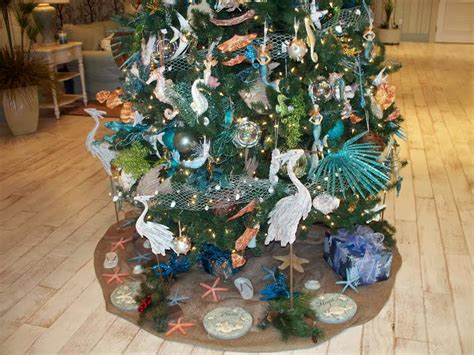 beach themed tree skirt rec centers stick with theme with decorations for season villages news