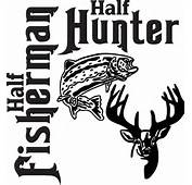 Hunting And Fishing Decals Hunter Salmon Sticker