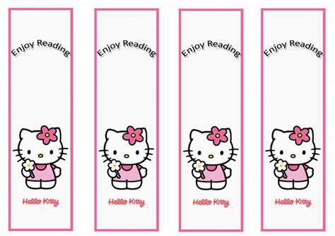 printable bookmarks with names hello kitty bookmarks birthday printable