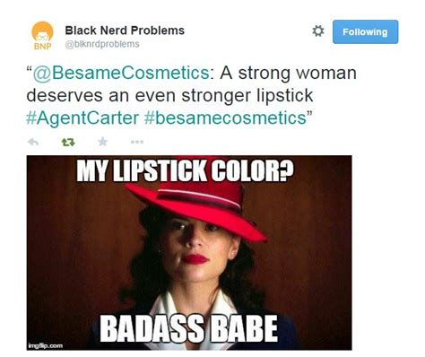 Red Lipstick Memes - lips like peggy carter a nerd girl s adventure with