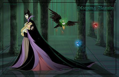 friendly villains 4 sleeping beauty by precia t on