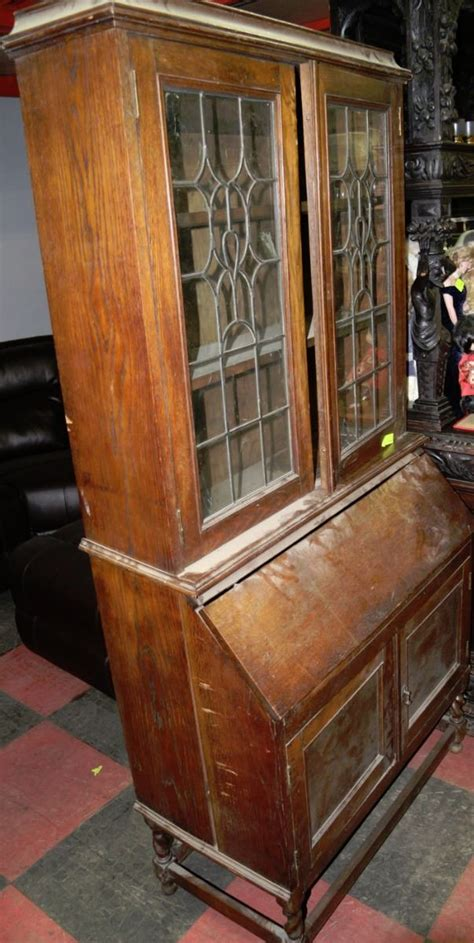 Antique Oak Writing Desk With Hutch Antique Oak Desk With Hutch