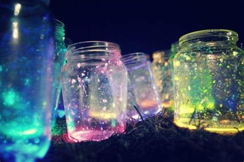 glow in the paint jar glitter diy glitter jars jar crafts