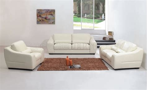 Contemporary White Leather Living Room Set White Leather Living Room Set
