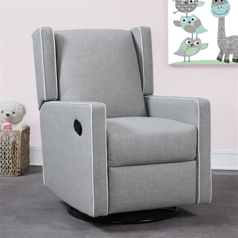 Gray Recliner Glider by Dorel Living Baby Knightly Everston Swivel Glider