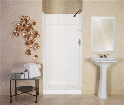 fiberglass bathroom walls mustee 572t varistone fiberglass shower walls