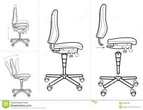Office Chair Blueprint Office Chair Drawing Royalty Free Stock Images Image
