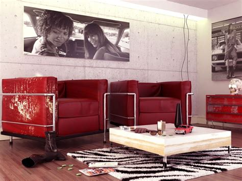 retro red black and white family room hgtv red black white contemporary living room with vintage