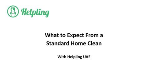 what to expect from a house cleaner ppt what to expect from a standard home cleaning service with helpling uae powerpoint