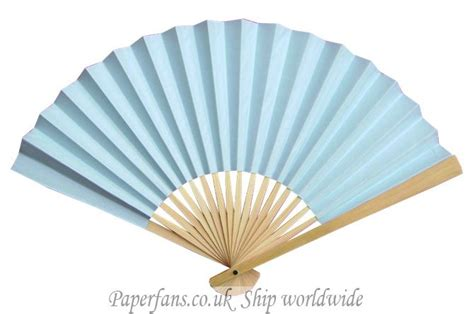 Paper Fan - light blue paper fan wedding favor ideas 0 6