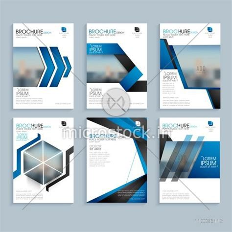 product layout company creative business brochure set corporate template layout