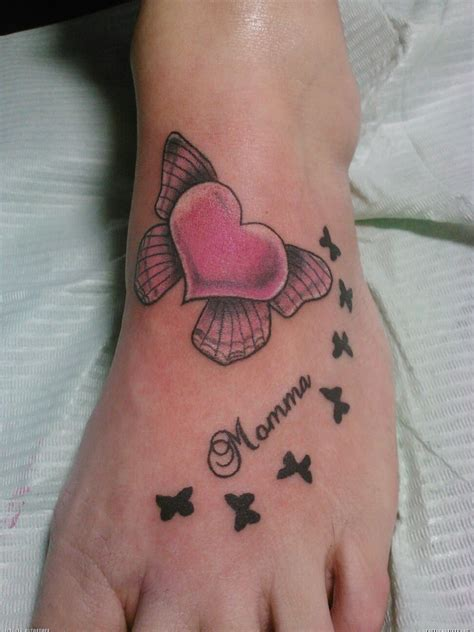 heart foot tattoos foot images designs