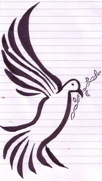 design tribal dove by nommyface on deviantart