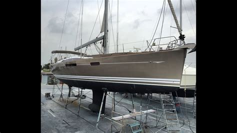 sailboat bottom paint jeanneau 57 yacht haul out for bottom paint hull design