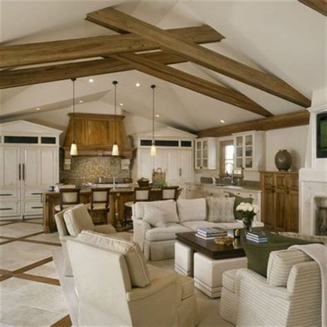 exposed beams  vaulted ceiling design pictures remodel