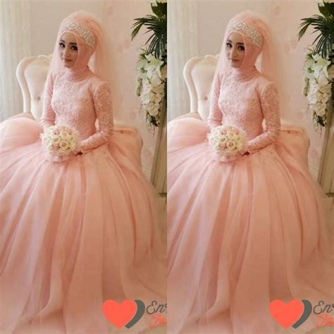 Ballgown Bridal Dress Pesta 4 custom made modest gown muslim wedding dresses with