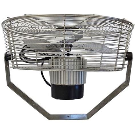 outdoor wall fan for patio mist works 18 inch stainless steel wall ceiling mount