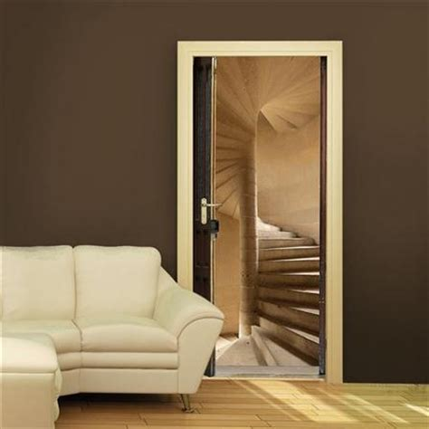 Trompe L Oeil Porte 3152 by Plage Staircase Door Sticker Stickers