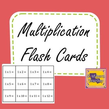 printable multiplication flash cards index cards multiplication flash cards for facts 0 12 by southern