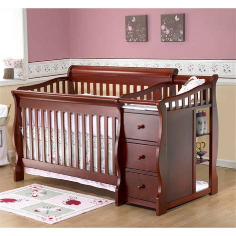 Crib And Changing Table Sorelle Tuscany 4 In 1 Convertible Fixed Side Crib And Changing Table Combo Choose Your Finish