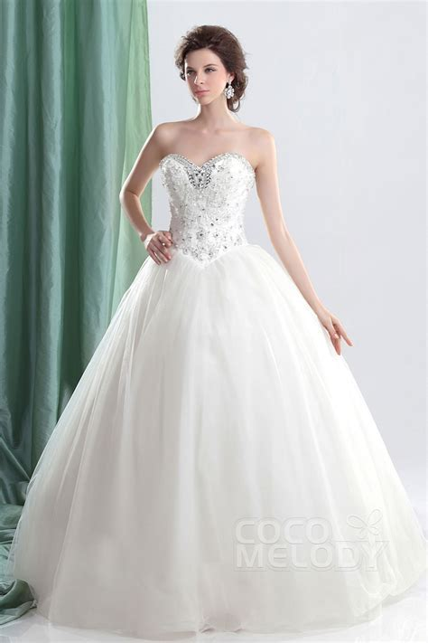 Cocomelody: Ball Gown Sweetheart Basque Floor Length Tulle