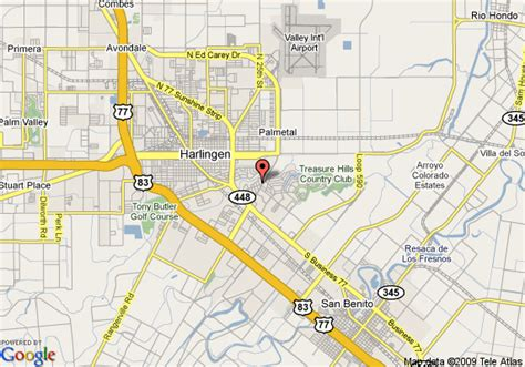 where is harlingen texas on the map map of hton inn suites harlingen tx harlingen