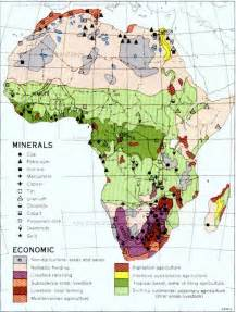 Africa Resources Map by Africa Minerals And Economic Activity Full Size