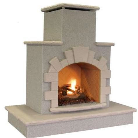 Home Depot Propane Fireplace by Cal 78 In Propane Gas Outdoor Fireplace Frp908 3 1
