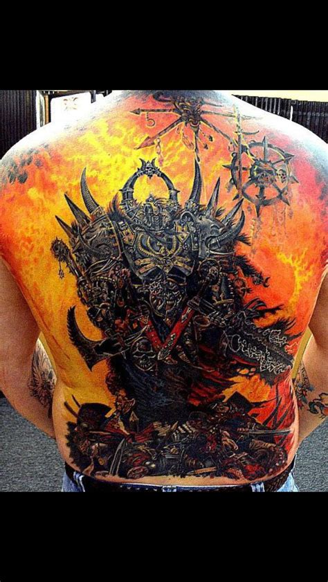 chaos tattoo warhammer chaos my ideas