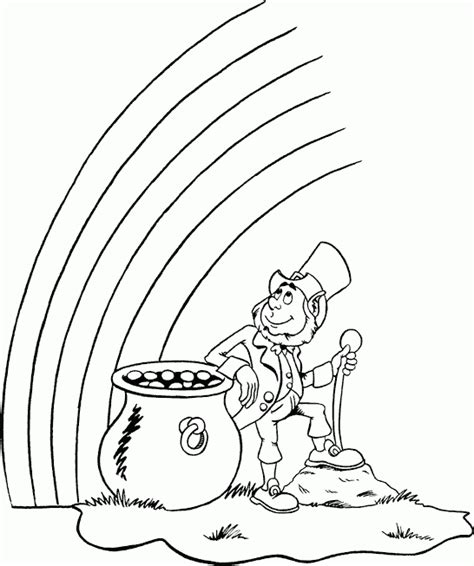 rainbow coloring page with leprechaun leprechaun coloring pages best coloring pages for kids